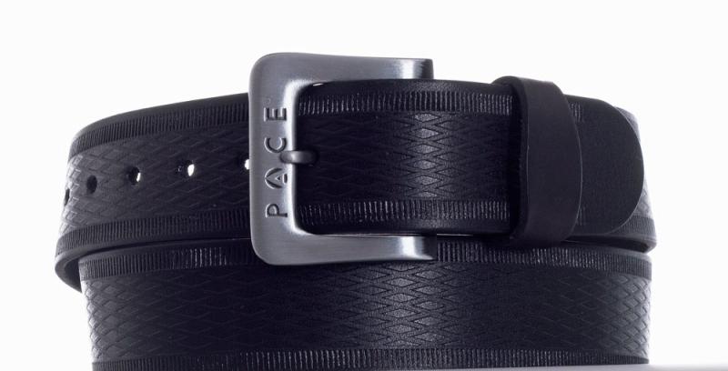 Kožené opasky - Černý pásek Pace jeans 2005 vr.