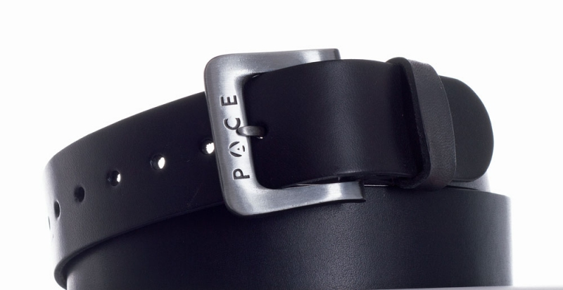 Kožené opasky - Černý pásek Pace jeans 2005