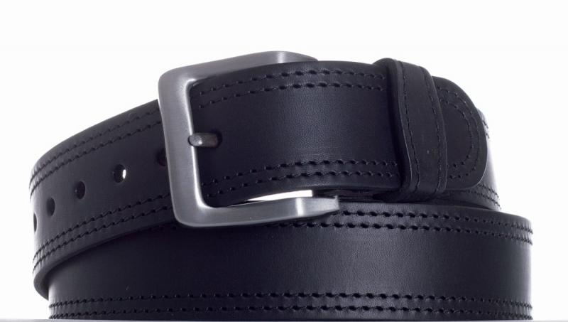 Kožené opasky - Opasek kožený černý 18 2ob.
