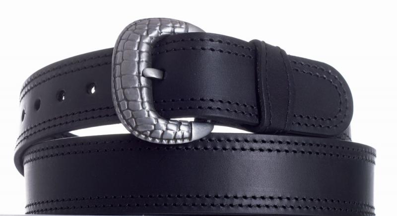 Kožené opasky - Opasek kožený černý 1052 2ob.