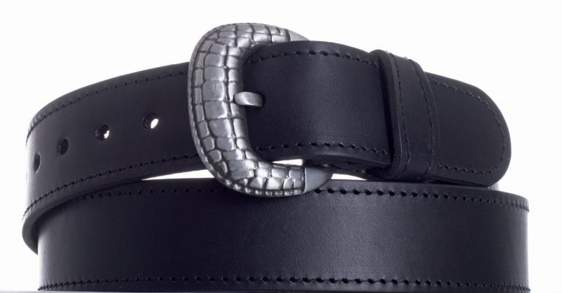 Kožené opasky - Opasek kožený černý 1052 ob.