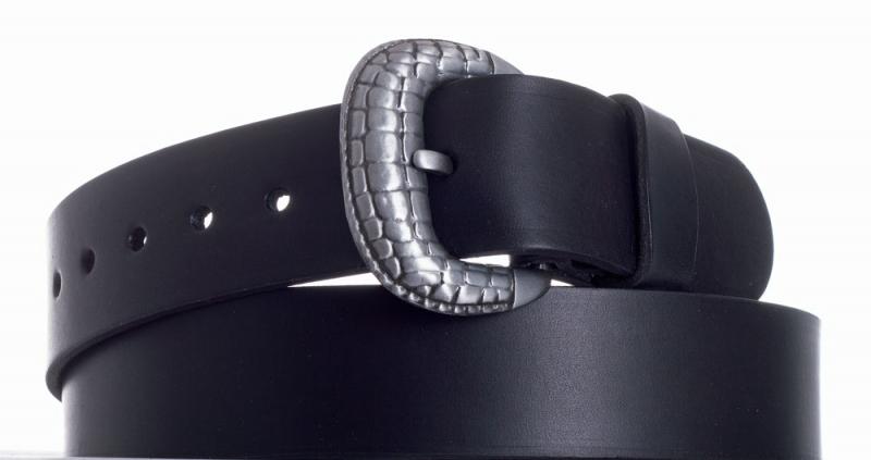 Kožené opasky - Opasek kožený černý 1052
