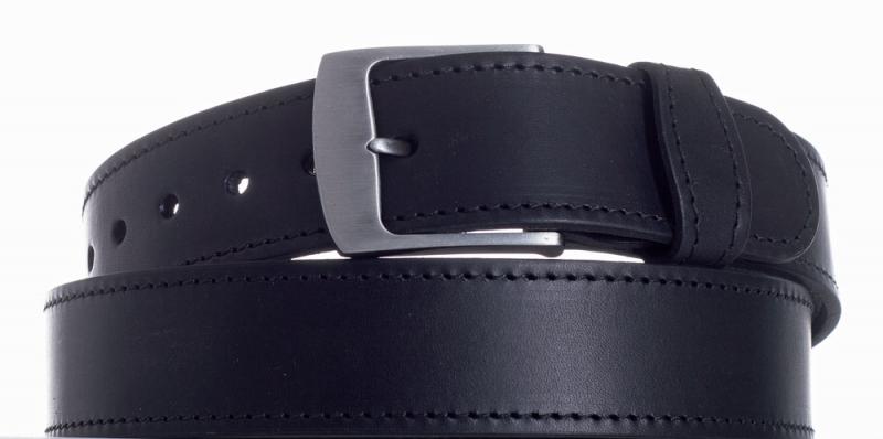 Kožené opasky - Opasek kožený černý 1074 ob.