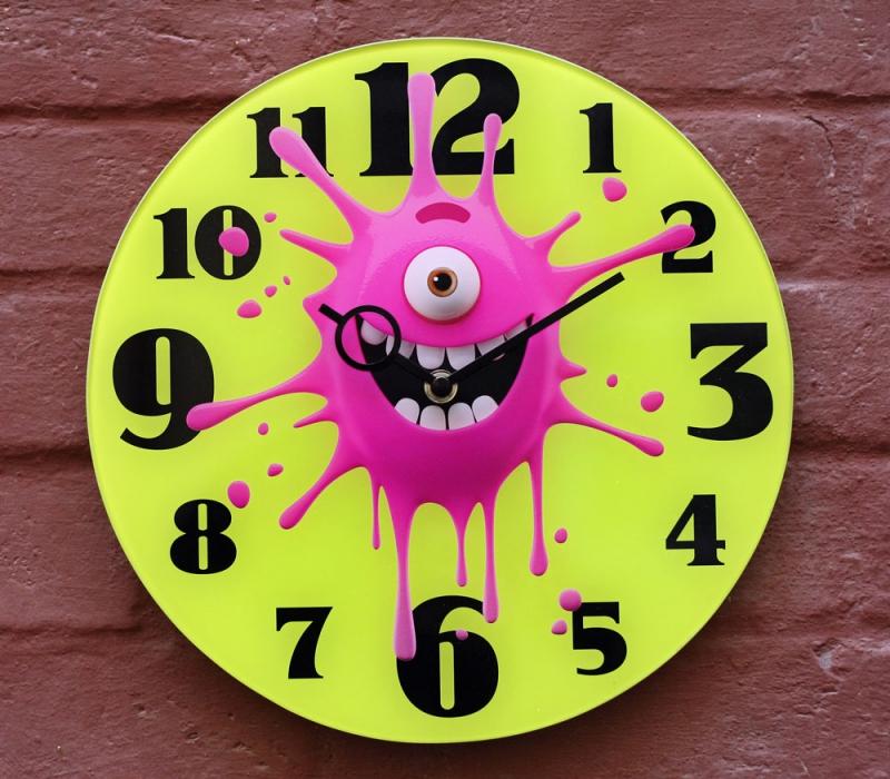 """Nástěnné designové hodiny - Nástěnné hodiny """"Cákanec"""" pr.30"""