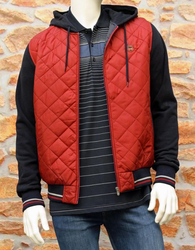 Pánská móda - Pánská bunda s kapucí červená