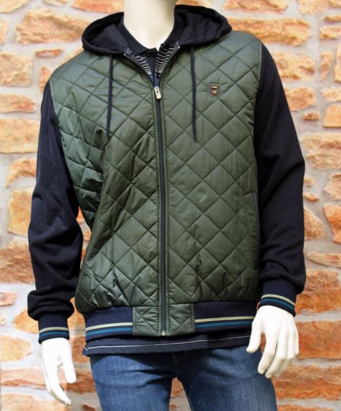 Pánská móda - Pánská bunda s kapucí haki