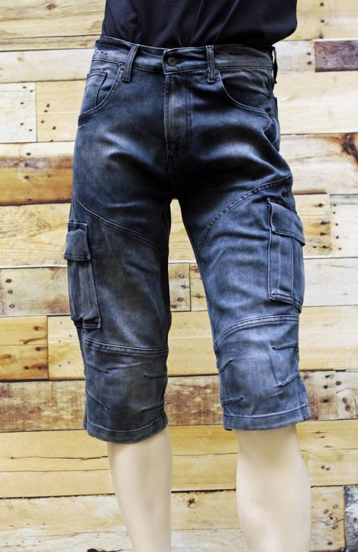 Pánské rifle - Pánské džínové kapsáče krátké
