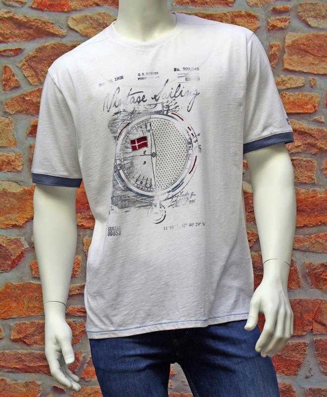 Pánská móda - Pánské triko Jossi 491 bílé