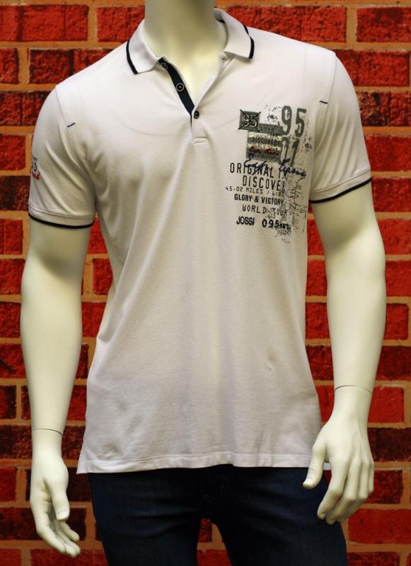 Pánská móda - Pánské polo Jossi 411 bílé