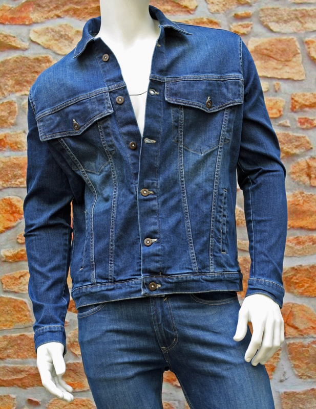 Pánské rifle - Pánská riflová bunda Pace jeans