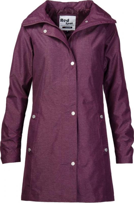 Dámská móda - Dámský jarní kabát 167 bordo