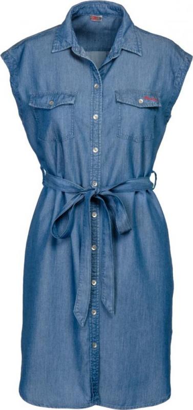 Dámská móda - Dámské šaty DR1 středně modré