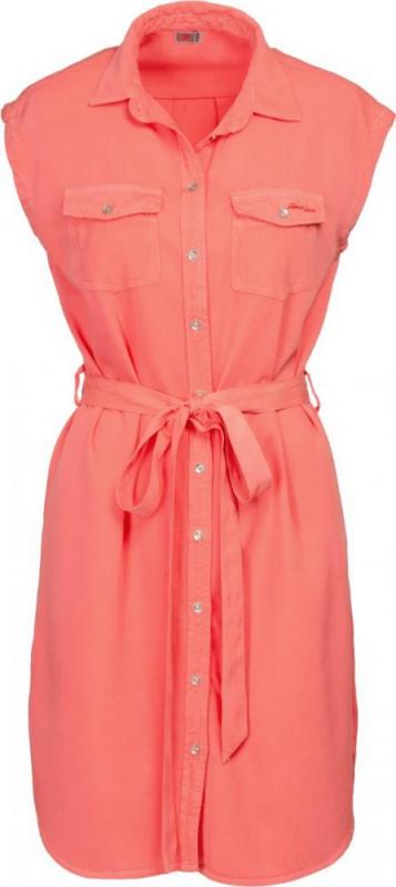 Dámská móda - Dámské šaty DR1 korálově červená