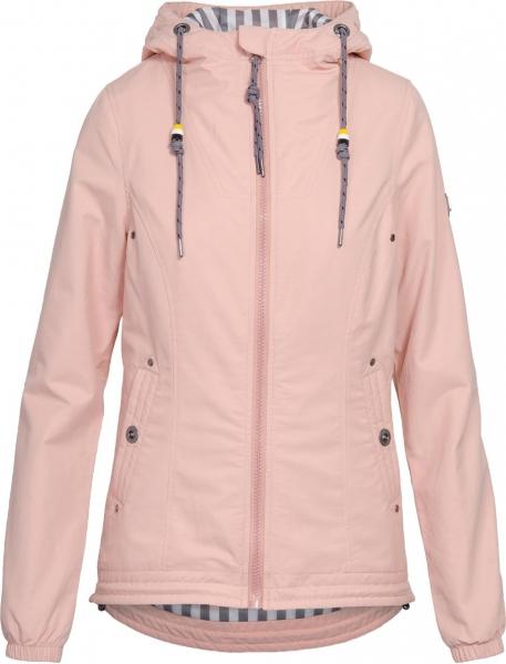 Dámská móda - Dámská jarní bunda J186 růžová