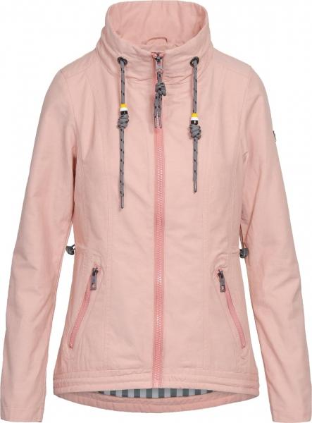 Dámská móda - Dámská jarní bunda J195 růžová