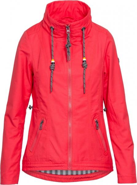 Dámská móda - Dámská jarní bunda J195 coral red